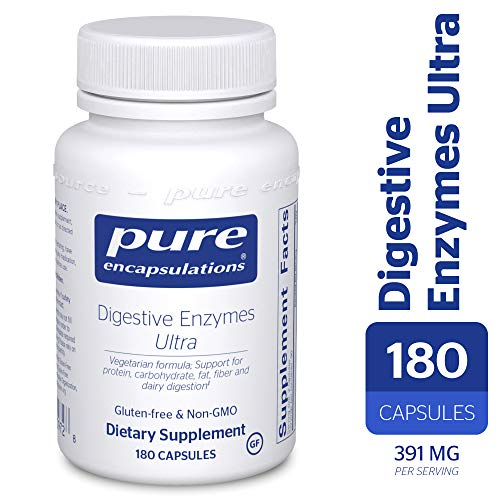 Pure Encapsulations - Digestive Enzymes Ultra - Comprehensive Blend of Vegetarian Digestive Enzymes - 180 Capsules Broad Spectrum Enzyme 90 Caps