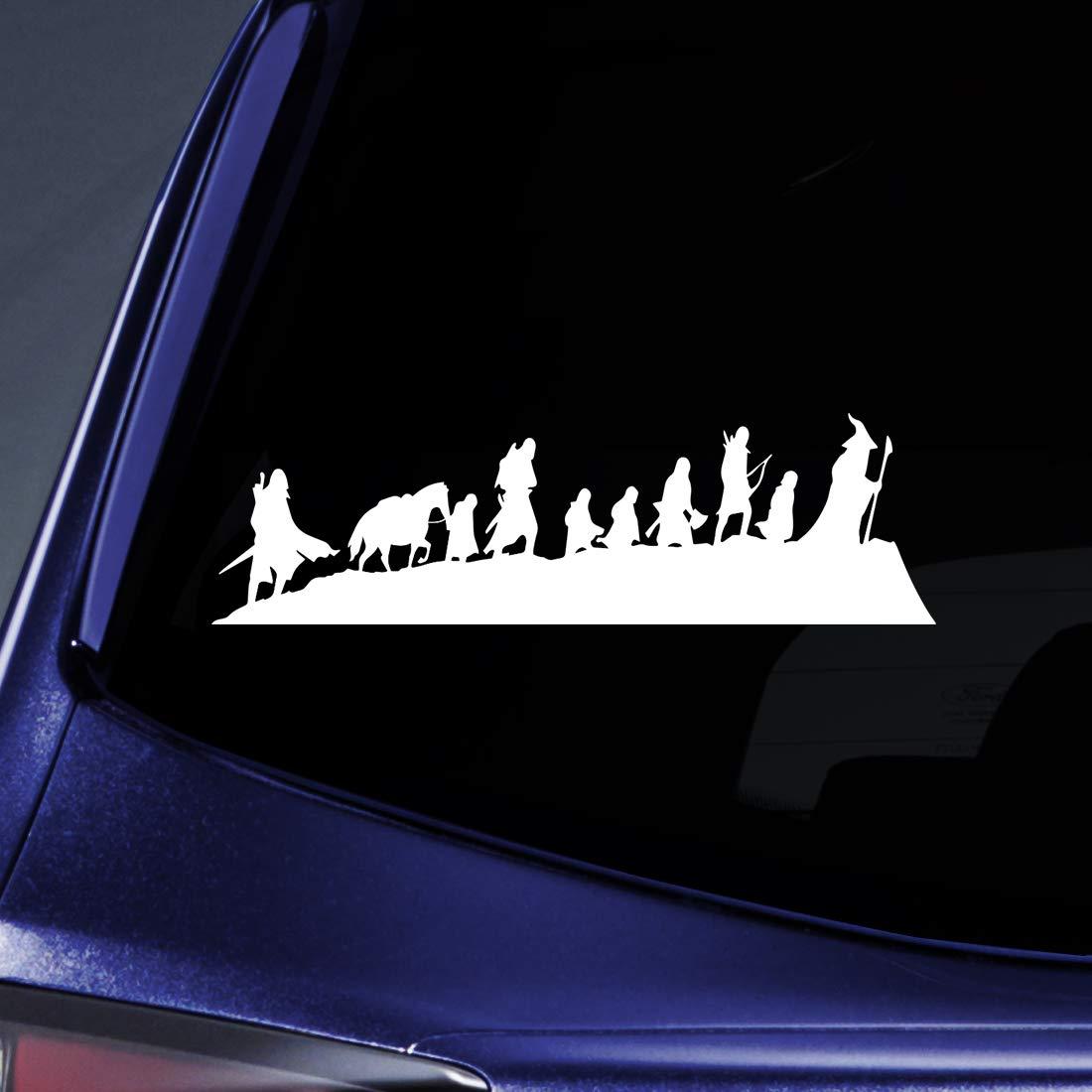 Bargain Max Decals - LOTR Caravan Fellowship Sticker Decal Notebook Car Laptop 8' (White) BM-MPR-52