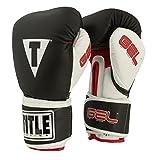 TITLE Gel Intense Training/Sparring Gloves, Black/White, 16-Ounce