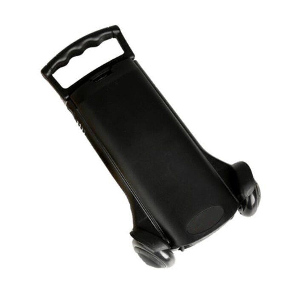 ELEGENCE-Z Trolley Truck Foldable, Aluminum Alloy Black Small Cart Portable Folding Mini Trolley Shopping Cart Bag Car