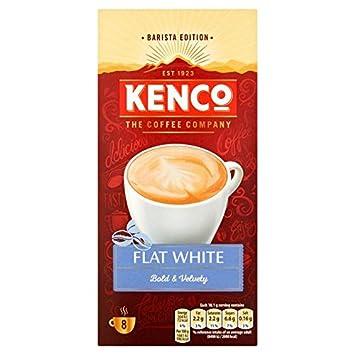 Superior Kenco Flat White Instant Coffee 8 Sachets 144.8g