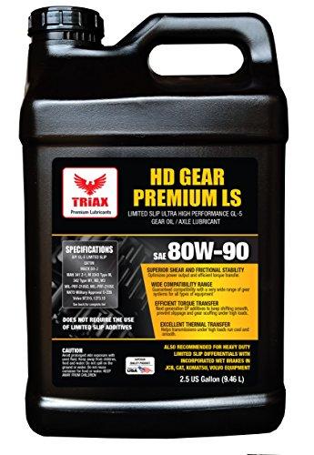 Triax HD Premium Gear 80W90 GL-5 Limited Slip Ready - Wide OEM Spec Range (2.5 ()