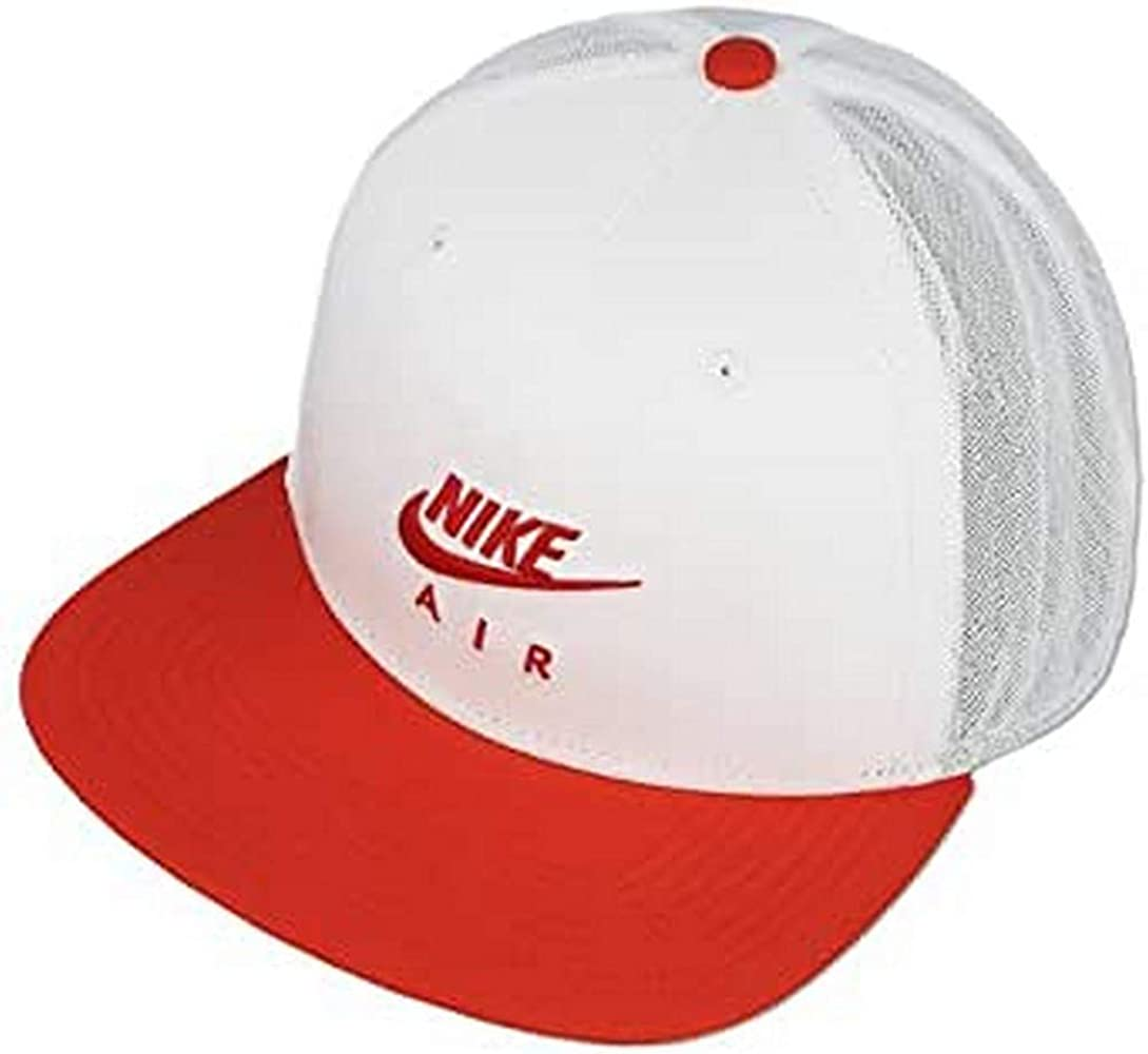 Nike 891299-100 Gorro, Unisex Adulto, Blanco/Rojo Universitario ...