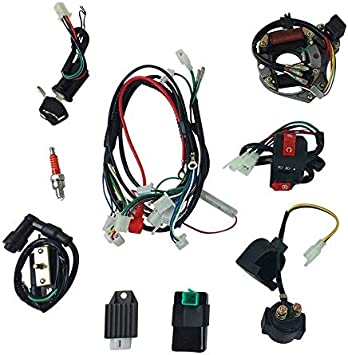 Amazon.com: Complete Wire Harness Set for 50cc 70cc 90cc 110cc 125cc  Chinese Electric Start ATVs Quads GY6: Automotive
