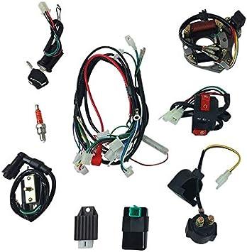 Amazon.com: Complete Wire Harness Set for 50cc 70cc 90cc 110cc 125cc  Chinese Electric Start ATVs Quads GY6: AutomotiveAmazon.com