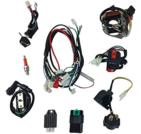 Amazon.com: Complete Wire Harness Set for 50cc 70cc 90cc 110cc 125cc  Chinese Electric Start ATVs Quads GY6: AutomotiveAmazon.com