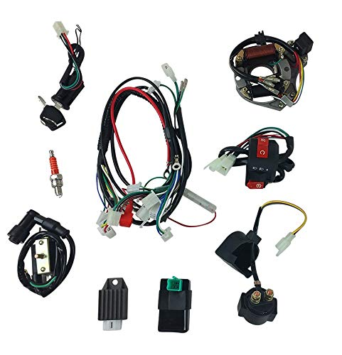 Complete Wire Harness Set for 50cc 70cc 90cc 110cc 125cc Chinese Electric Start ATVs Quads GY6
