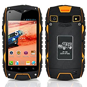 Generic 4 Inch Rugged Dual SIM Android Phone (Waterproof, Shockproof, Dust Proof, Dual Core CPU, Yellow)