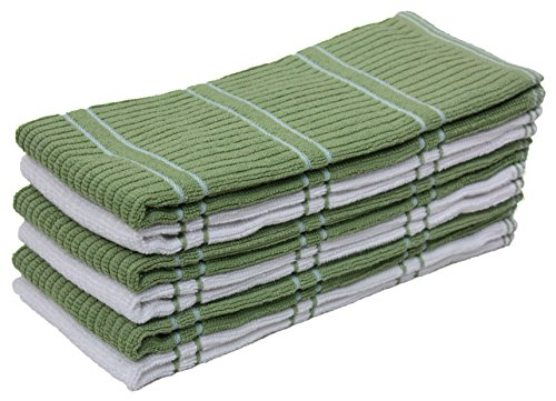 Absorbent Durable Cleaning Kitchen Towels Green product image