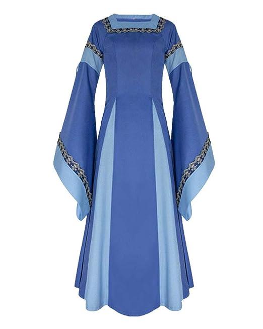 7ce418475001 Donna Vestito A Maniche Lunghe di Halloween Costume Medievale Vestito  Completo Costume di Halloween: Amazon.it: Abbigliamento