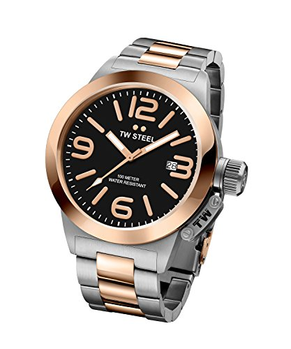 TW Steel 'Canteen' Quartz Gold and Stainless Watch, Color:Two Tone (Model: CB405) ()