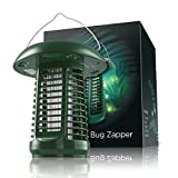 Sandalwood NK63 Solar-Powered UV Bug Zapper, Insect Killer & LED Garden Lamp Included UL Adapter