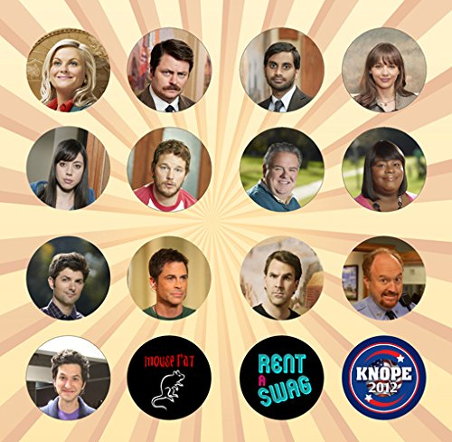 [Parks and Recreation Set of 16 - 1 Inch Pinback Buttons] (Parks And Rec Costume)