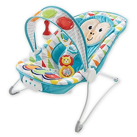 Fisher-Price New Deluxe Monkey Animal Kick 'n Play Musical Bouncer Features Fun Music, Gentle Vibrations and Comfortable Seat Insert For Your Little One! Great Gift Ideas by Generic