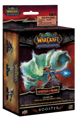 Upper Deck World of Warcraft Miniatures Game Spoils of War Booster pack ()