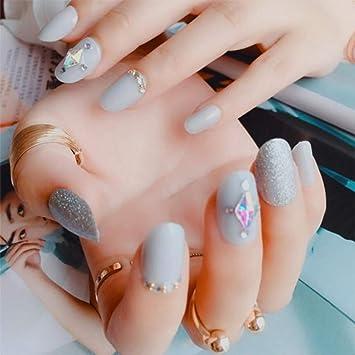 QULIN Uñas postizas Herramienta de manicura de uñas Brillo ...