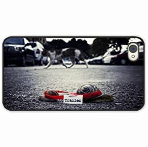 iPhone 4 4S Black Hardshell Case snail shell street Desin Images Protector Back Cover