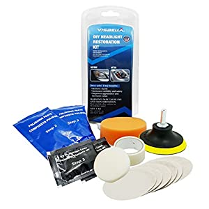 VISBELLA DIY Headlight Restoration Kit, Headlamp Lens Cleaning Tools, Great for Enhancing the Appearance of the Vehicle