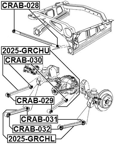 FEBEST # CRAB-028 1 Year Warranty 52089605AC