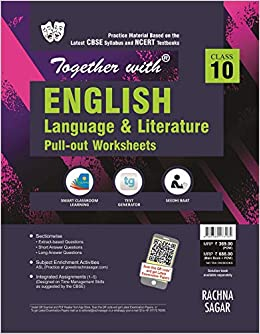 Together With English Language Literature Pullout Worksheet For Class 10 Old Edition Amazon In Urmil Gagaroo Books