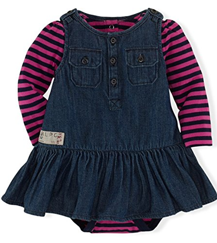 Ralph Lauren Polo Baby Girls 2-Piece Jumper and Bodysuit Set (9 Months)