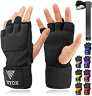 WYOX Boxing Wraps MMA Gloves Inner Boxing Gloves for Men Women Youth - EZ-Off & On - Thick Knuckle Padding