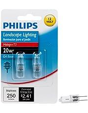 Philips 417204 Halogen Landscape Lighting T3 12-Volt Light Bulb: 3000-Kelvin, 20-Watt, G4 Base, 2-Pack