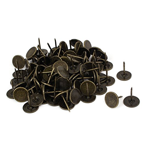 uxcell Message Notice Board Map 16mmx20mm Round Flat Head Thumb Tack Bronze Tone 100pcs by uxcell