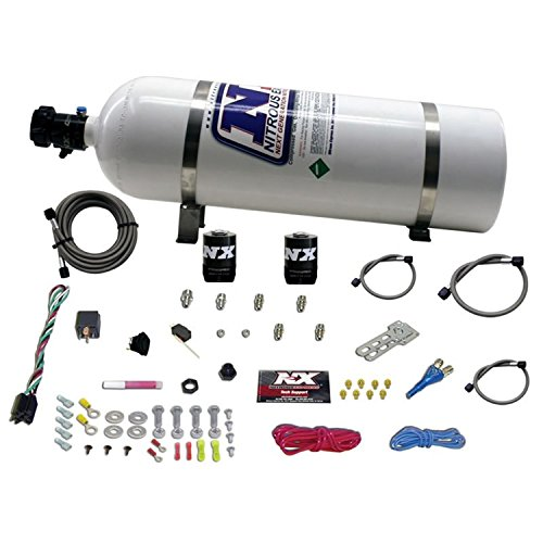 Nitrous Express 20112-15 Shark 400 HP Super High Output Single Nozzle System with 15 lbs. Bottle