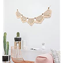 Macrame Banner Woven Wall Hanging Home Decor,7.8in X 51in