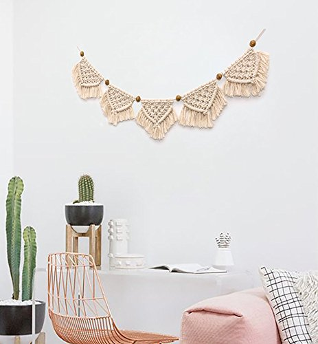 Macrame Wall Hanging Cotton Handmade Wall Art Home Decor,7.8in X 51in