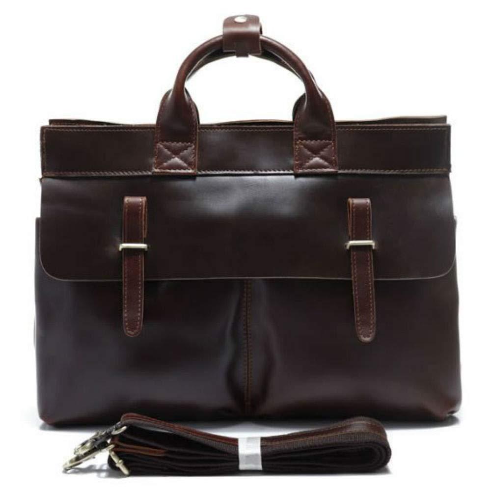 MCuero 15 inch Vintage Crossbody Genuine Leather Laptop Messenger Bag Office bag Briefcas