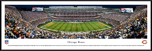 (Chicago Bears - 50 Yard - Night - Blakeway Panoramas NFL Posters with Standard Frame)