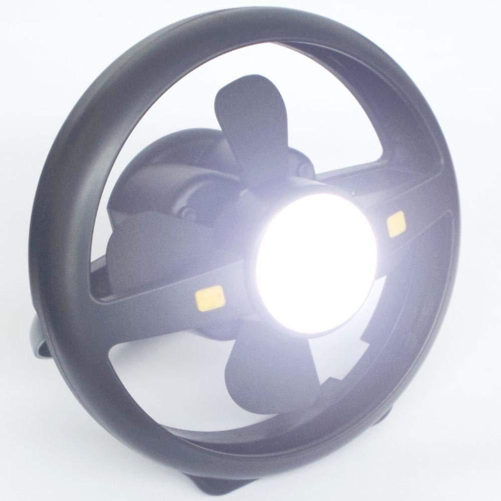 AQWWHY Multifunktions-Camping-Fan-Licht USB-Lade-Licht LED-Haken Camping-Licht Outdoor-Zelt-Fan Camping Licht