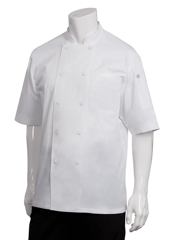 Chef Works(シェフワークス) モントリオール 半袖コックコート 【軽量薄手】 ホワイト 4XL【適応胸囲152㎝-157cm】  B0085F7XVG