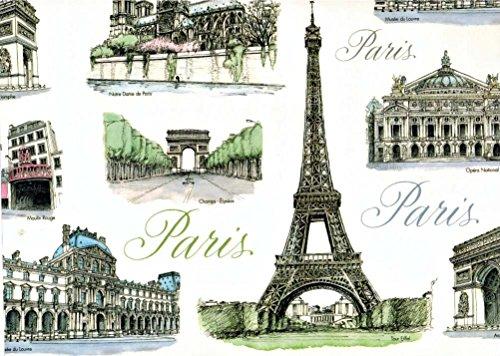 - Tassotti City of Paris Decorative Wrap Paper 2 Full Sheets 27.5 in x 39 in