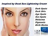 Inspired by Dead Sea Lightening Bleaching Whitening Brightening Cream Best Treatment for Dark Skin,Discoloration,Freckles,Melasma,Pigmentation Reducing,Birth Marks,Age & Sun Spots 50ml/1.7 fl.oz