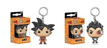Funko Pop Llavero Dragonball Goku y Vegeta Pop Llavero Set