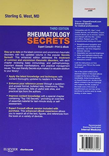 Rheumatology Secrets - http://medicalbooks.filipinodoctors.org