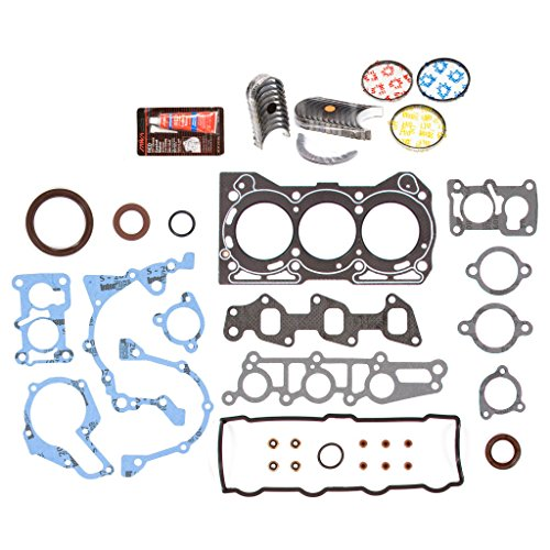 Evergreen Engine Rering Kit FSBRR8006EVE\0\0\0 Fits 89-00 Chevrolet GEO Metro 1.0 SOHC G10 Full Gasket Set, Standard Size Main Rod Bearings, Standard Size Piston ()