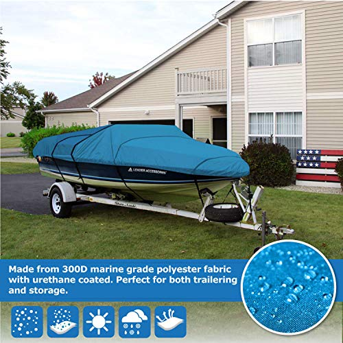 """Boat Cover for V-Hull Pro Style Bass Boat  20/'-22/'L beam width up to 100/"""""""