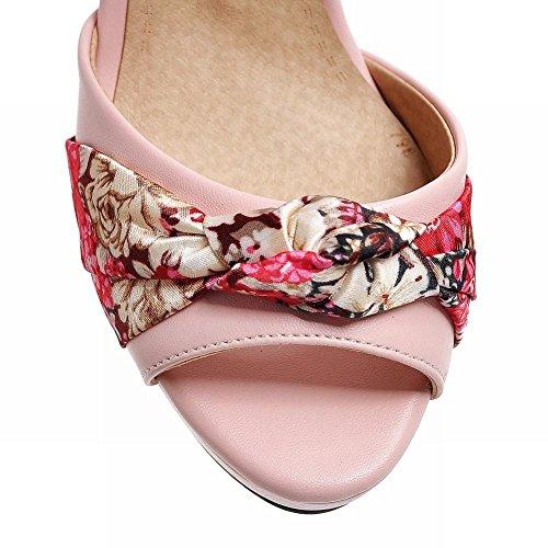 Mee Shoes Damen süß Slingback high heels Sandalen Pink