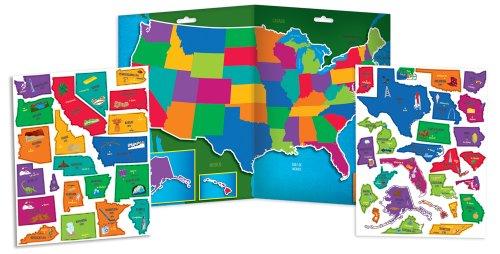 Amazoncom Imaginetics USA Map Set Toys Games - Magnetic us map