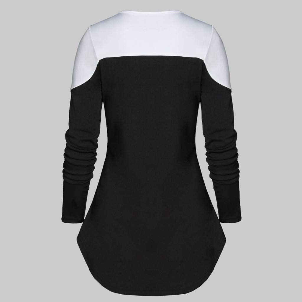 EDC Music Note Tunic for Women Trendy Casual Printed Long Sleeve Lace Up Pullover Tops Blouse Shirts T Shirt