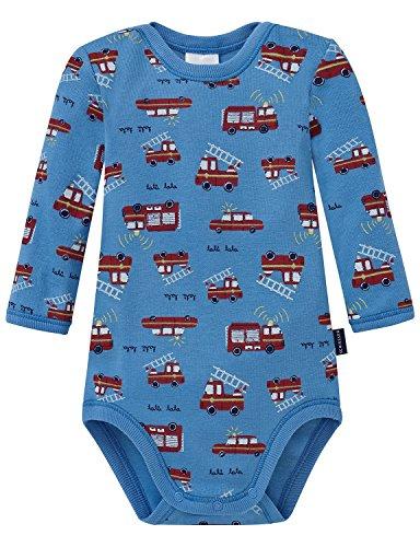 Schiesser Baby-Jungen Body 1/1, Blau (Hellblau 805), 86 (Herstellergröße: 086)