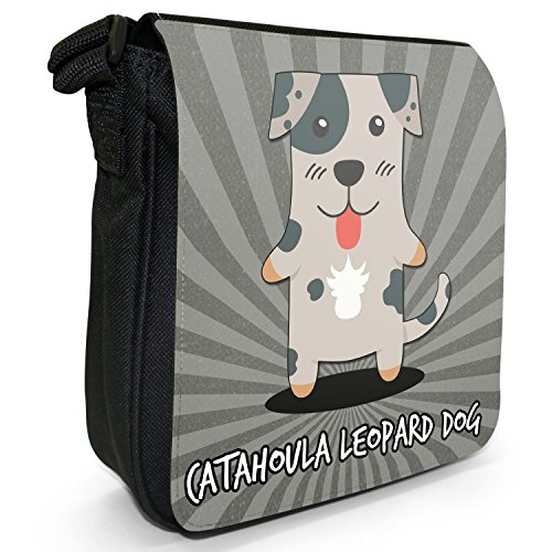 Black Size Canvas Cartoon Dogs Small Leopard Catahoula Shoulder American Dog Bag PStcAaag
