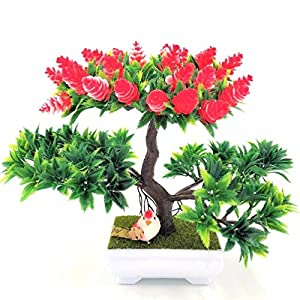 1pc decoration diy Artificial flowers and wreaths Bonsai Green Pot Plants 111