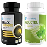WBP T5 Black Ultimate & Reductol - Hardcore Fat Burner & Weight Loss Pills for Men & Women - Detox Capsules & Appetite Suppressant - Training Supplement with Added Energy Boost - New and Improved Formula - Free Diet, Training & Nutrition Booklet - Suitabl