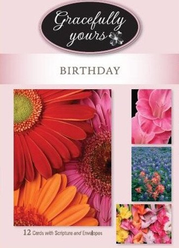 Birthday Boxed Cards 12 Box - Birthday -Rejoice - KJV Scripture Greeting Cards - Boxed - (Box of 12)
