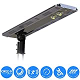 eLEDing Solar Power SMART CREE LED Street Light for Commercial Residential Parking Bike Paths Walkways Courtyard (20W)
